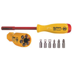 Wiha Tools 6 Bit Screwdriver Storedin Handle