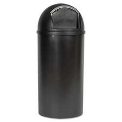 Rubbermaid Brown Plastic Fire-Safe Trash Can, 25 Gallon, Domed