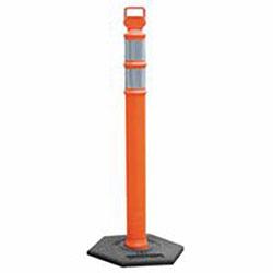 Cortina EZ Grab Delineator Post, 3 in Dia x 45 in H, Orange