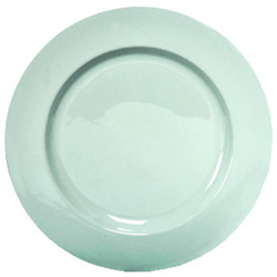 "Libbey 840-445R12 Porcelana Rolled Edge Plate 12""White"