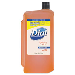 Dial Gold Antimicrobial Liquid Hand Soap, Floral, 1000 mL Refill, 8/Carton