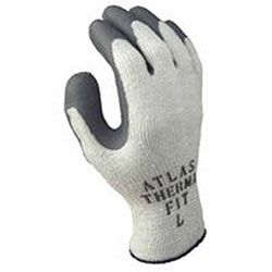 Showa Atlas Therma-Fit 451 Latex Coated Gloves, Light Gray/Dark Gray, Large