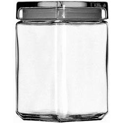 Anchor Hocking 1.5 Quarts Stackable Square Jar