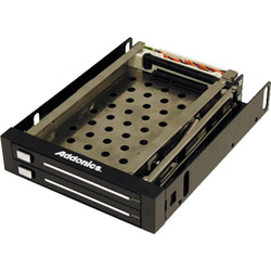 Addonics Snap-In Double Drive AE25SNAP2SA - Storage Mobile Rack