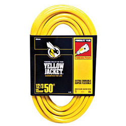 Woods Wire Yellow Jacket Power Cord, 12/3 AWG, 100ft