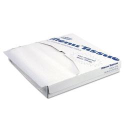 GP Menu Tissue Untreated Paper Sheets, 12 x 12, White, 1000/Pack, 10/Carton