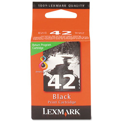 Lexmark 0018Y0142 Black Print Cartridge No. 42