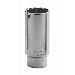 "Wright Tool 1-1/8"" 1/2"" Drive 12 Point Deep Socket"