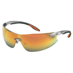 Harley Davidson Hd 800 Series Silver Temples-orange Mirror Lens
