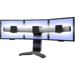 Ergotron LX Triple Display Lift Stand - Stand For Triple Flat Panel - Black