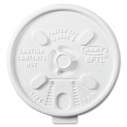Dart 8FTL Lift 'n' Lock Lids for Foam Cups