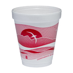 Dart Container Hot or Cold Foam Cup, 8 OZ, White