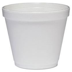 Dart Food Containers, Foam, 8oz, White, 1000/Carton
