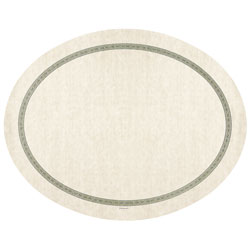 Hoffmaster Regal Nonskid Traymat, Oval, 19 inx24 in, White