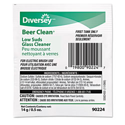 Diversey Beer Clean Glass Cleaner, Powder, .5oz Packet, 100/Carton