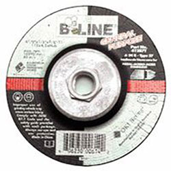 Bee Line Abrasives Depressed Center Grinding Wheel, 4 1/2in Dia, 1/8in Thick, 5/8-11in Arbor, 24 Grit