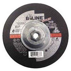 Bee Line Abrasives Flexible Depressed Center Wheel, 7in Dia, 1/8in Thick, 5/8-11in Arbor, 46 Grit