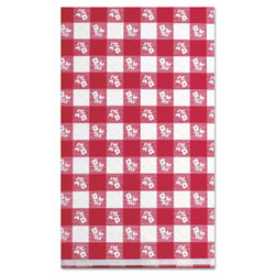 Little Rapids Paper Table Cover, 40 in x 300ft, Red Gingham
