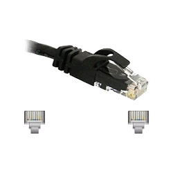 Cables To Go Patch Cable - RJ45 (M) - RJ45 (M) - 7' - (CAT 6) - Black