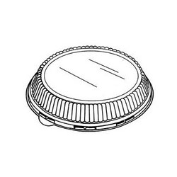 "Genpak Domed Plastic Lid for 10 1/4"" Plates, Clear"