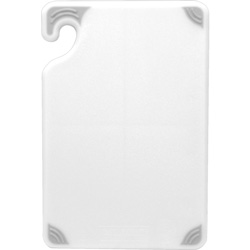 San Jamar Cut-N-Carry Cutting Board, 12 inx18 in, White
