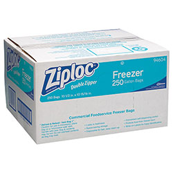 Ziploc® Double Zipper Plastic Freezer Bags, 1 Gallon, Case of 250