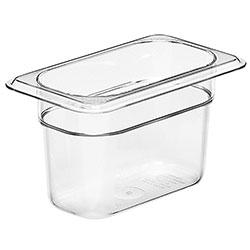 Cambro Food Pan 1/9 X 4 in Camwear® Clear