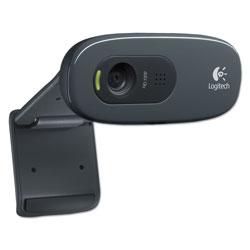 Logitech C270 HD Webcam, 1280 pixels x 720 pixels, 1 Mpixel, Black
