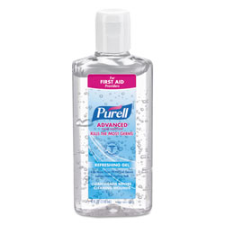 Purell Advanced Hand Sanitizer Refreshing Gel, Clean Scent, 4 oz Flip-Cap Bottle, 24/Carton
