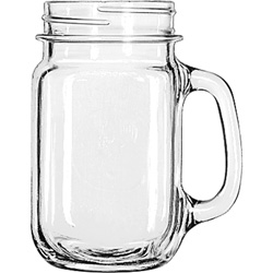 "Libbey Glass Drink Jar, 16.5oz, 5 1/4"" Tall, 12/Carton"