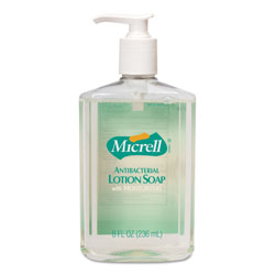 Gojo MICRELL Antibacterial Lotion Soap, Light Scent, 8oz Pump, 12/Carton