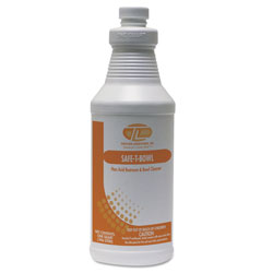 Theochem Laboratories Safe-T-Bowl Liquid Toilet Bowl Cleaner, 32oz, Bottle, 12/Carton