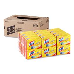 S.O.S. Steel Wool Soap Pad, 4/Box, 24 Boxes/Carton