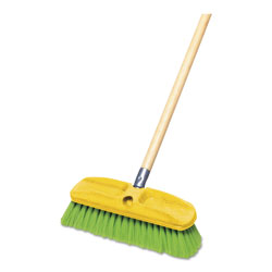 "Rubbermaid Synthetic-Fill Wash Brush, 10"" Yellow Plastic Block"