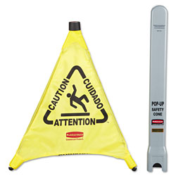 Rubbermaid Yellow Pop Up Safety Cone