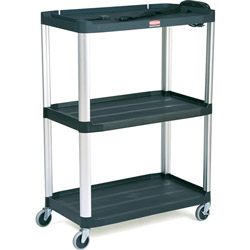 Rubbermaid Black Mediamaster Audio Visual Cart