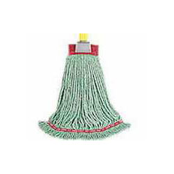 "Rubbermaid Green Large Webfoot Shrinkless Mop 1"" 6 Per Case"