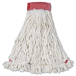Rubbermaid Web Foot Shrinkless Wet Mop Head, White
