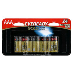 Energizer Gold Alkaline Batteries, AAA, Pack Of 24