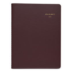 "At-A-Glance Monthly Planner, 2PPM, With Memo Sec, 6 7/8""x8 3/4"", Wine"