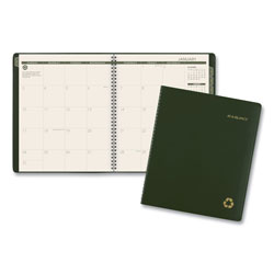 At-A-Glance Recycled Monthly Planner, 9 x 11, Green, 2017-2018