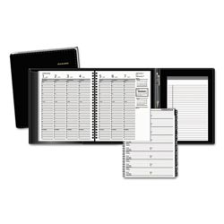 At-A-Glance Plus Weekly Appointment Book, 6 7/8 x 8 3/4, Black, 2017-2018