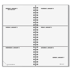 "At-A-Glance Unruled Weekly Refill for 70-543, January - December, 2PPW, 3 1/4"" x 6 1/4"""