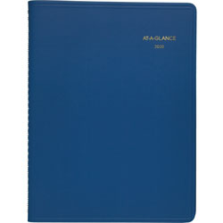 "At-A-Glance Weekly Fashion Appointment Book, 8 1/4""x10 7/8"", Blue"