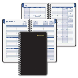 "At-A-Glance Collegiate Weekly/Monthly Appointment Book, 4-7/8""x8"", Black"