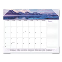 At-A-Glance Landscape Panoramic Desk Pad, 22 x 17, Landscapes, 2018
