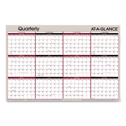 At-A-Glance Vertical/Horizontal Erasable Quarterly Wall Planner, 24 x 36, 2017