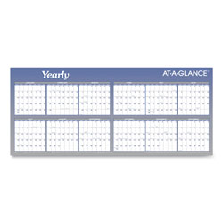 At-A-Glance Large Horizontal Erasable Wall Planner, 60 x 26, White/Blue, 2018
