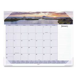 At-A-Glance Images of the Sea Monthly Desk Pad Calendar, 22 x 17, 2017