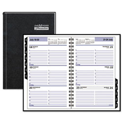 At-A-Glance Hardcover Weekly Appointment Book, 4 7/8 x 8, Black, 2017